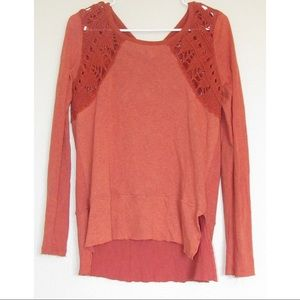 Free People | Top With Knit Detail